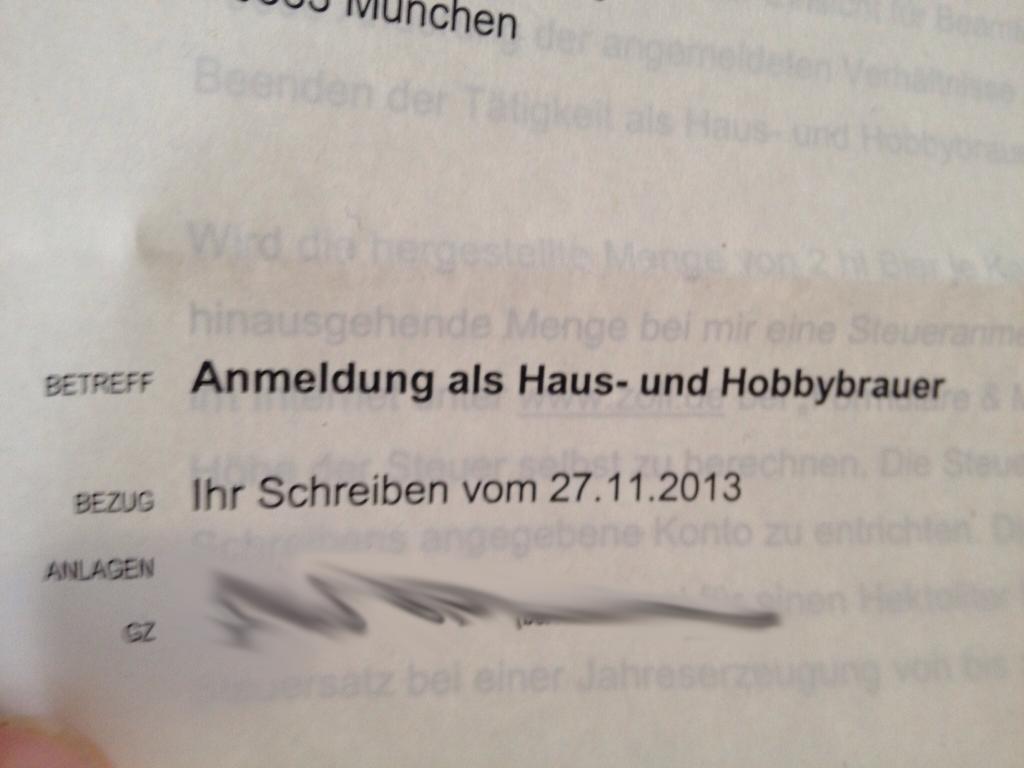 Gemeldeter Hoby - & Privatbrauer
