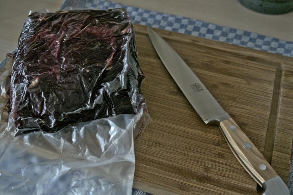 Entrecote im lava - Fleischreifebeutel und mein tolles neuee Fleischmesser von Güde