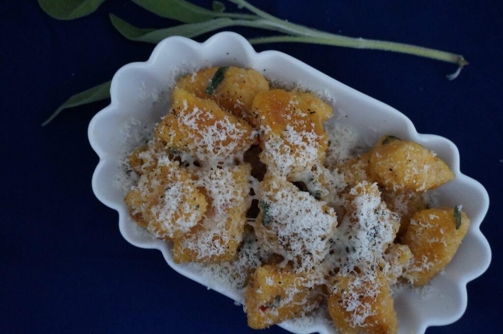 Gebratene Süßkartoffel-Gnocchi