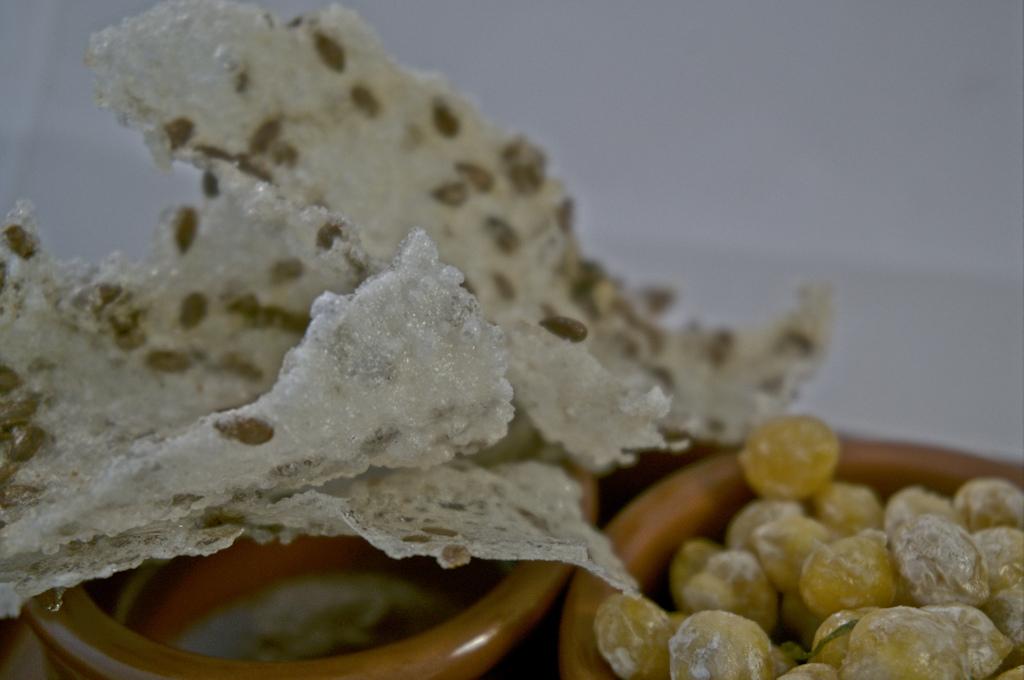 Reis Crisps mit Leinsamen