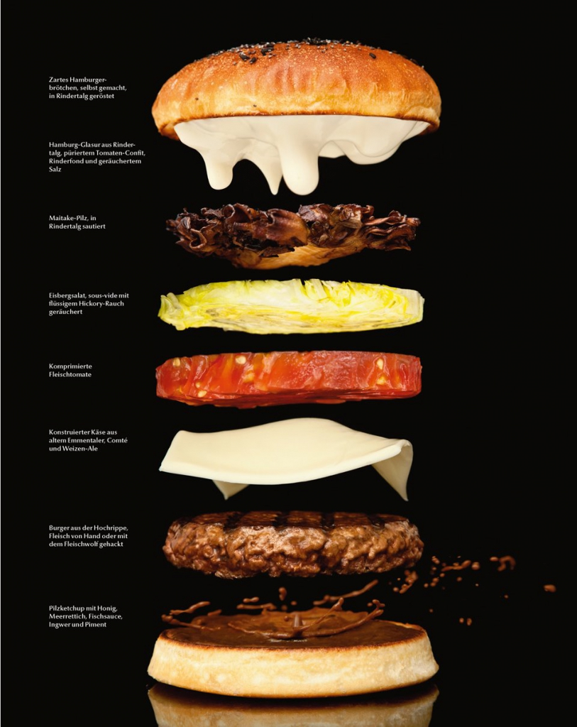 Ein modernistischer Burger