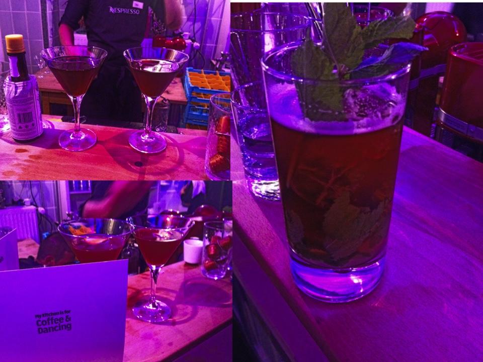Es gab Cocktails mit verschiedenen Nespresso Aromen