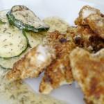 Fischstäbchen auf Zucchinisalat 3