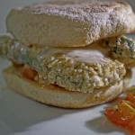 "Zucchini-Schnitzel ""Mediterrane Art"" im Basilikum-Bun 2"