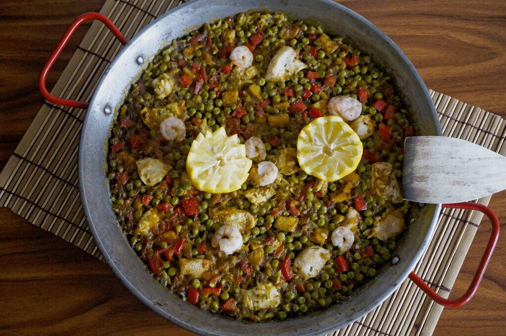 Selbstgemachte Paella - Rezept für zu Hause