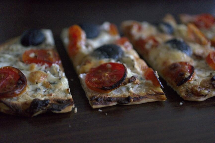 "Rezension Streetfood - Deftig Vegetarisch & Rezept ""Tomaten-Flatbread"" 1"