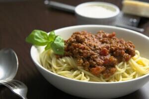 Spagetthi mit Bolognese Sauce