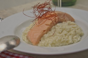 Rezept Vanille Zitronenrisotto mit sous vide gegarten Lachs