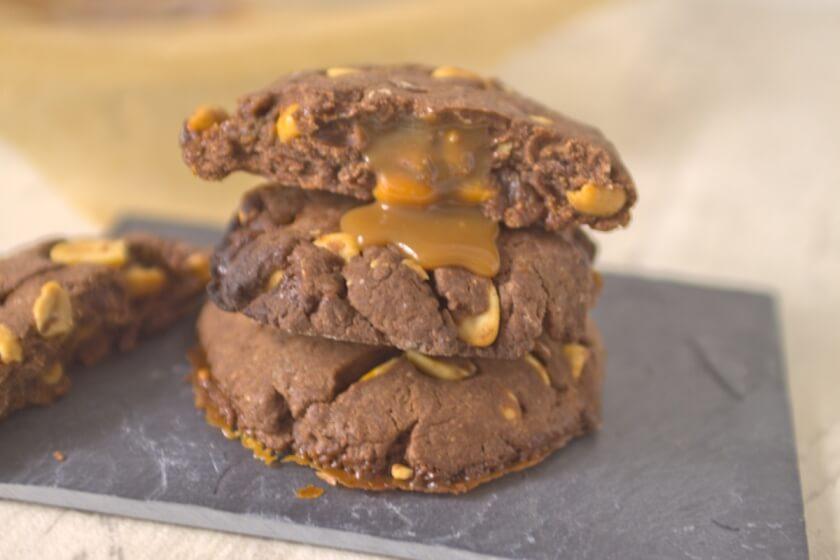 Cookie mit Schoko und gefüllt mit Salted Caramel