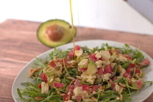 Avocadosalat mit Olivenöl