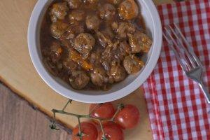 Bratwurst-Ragout mit Portwein