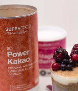 Feinstoff Power Kakao und Magic Berry_