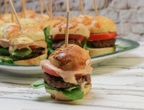 Party Mini Burger mit selbstgemachten Buns