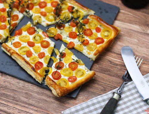 Tomaten Tarte rot-gelb
