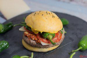 Burger mit manchego