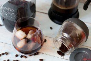 Selbstgemachter Cold Brew Kaffee zu Hause gemacht