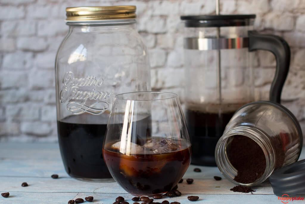 Cold Bre Kaffee mit French Press
