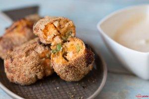 Süßkartoffel-Lachs-Kroketten