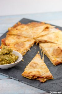 Chicken Quesadilla mit Guacamole