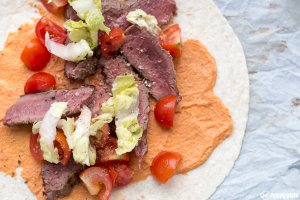 Wrap mit Hueftsteak_