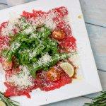 Carpaccio vom Rind mit Parmesan