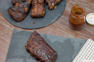 Selbstgemachte Spare Ribs aus dem Ofen mit Barbecuesauce