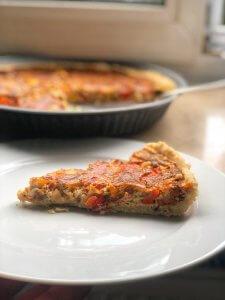 Chorizo Paprika Quiche