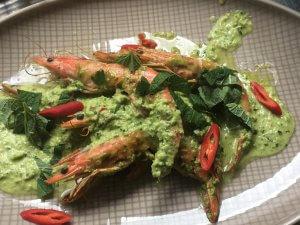 Gambas mit gruener Salsa bzw. Salsa Verde
