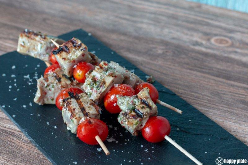 Tunfisch Sticks mit Marinade vom Grill_