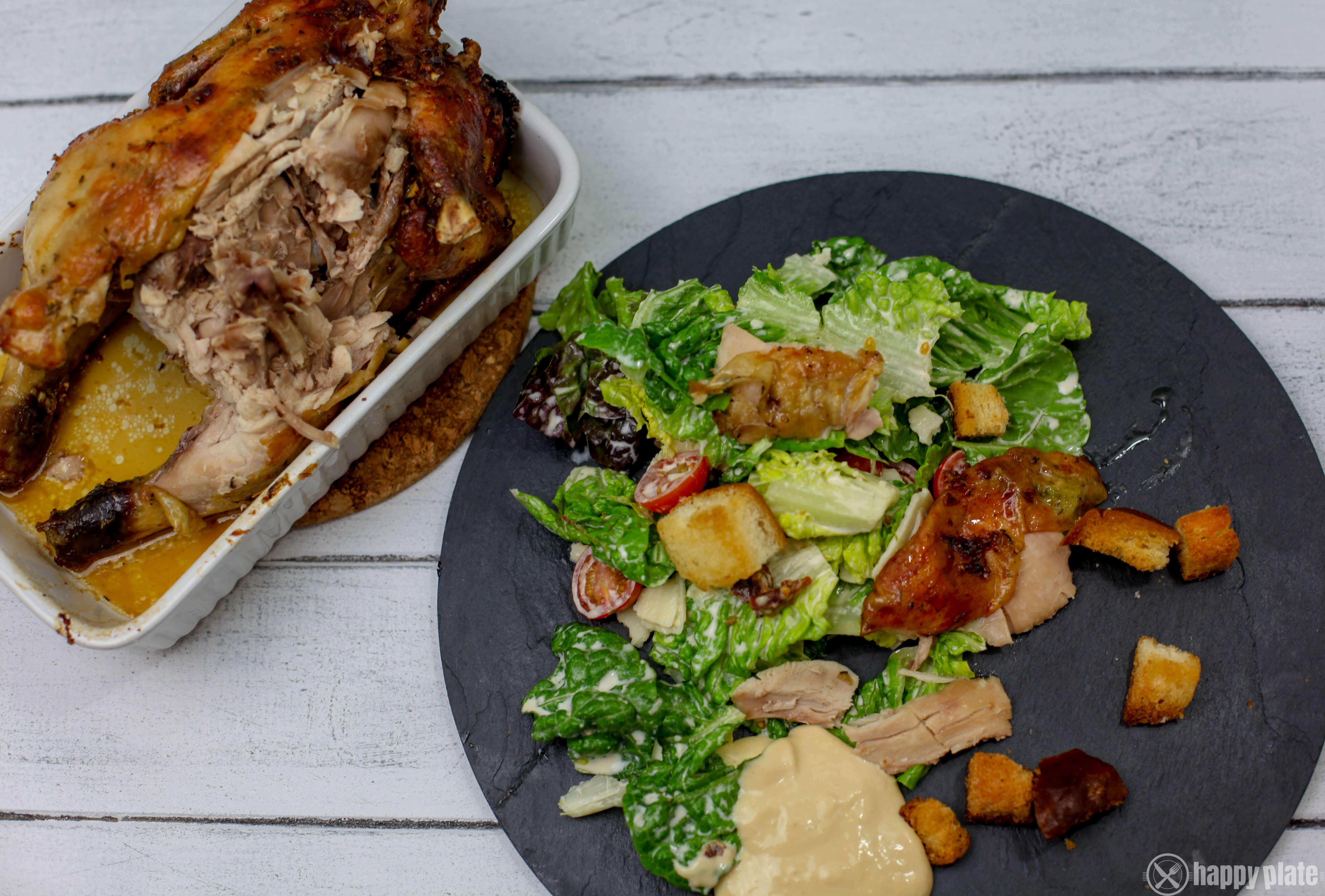 Caesars Salad mit Bierdosenhaehnchen
