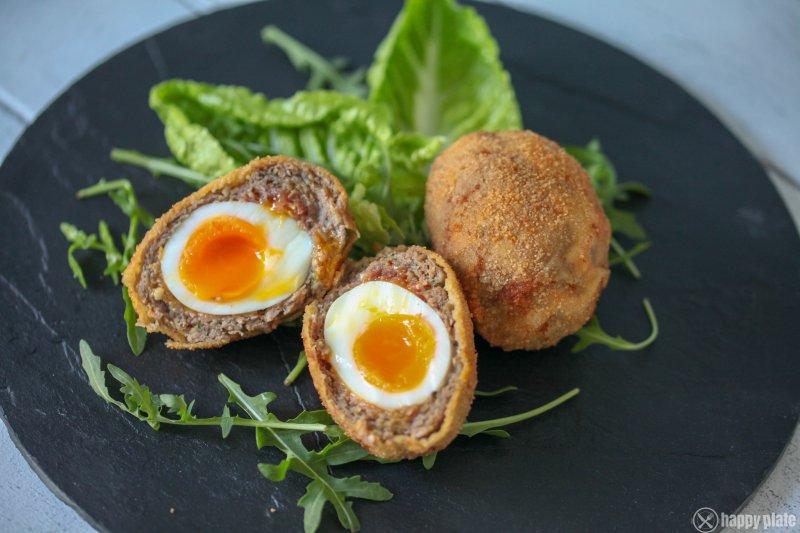 Selbstgemachte Scotch Eggs fuer zu Hause