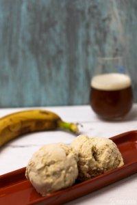 Weisse Schokolade Bananeweizen Eis selbstgemacht