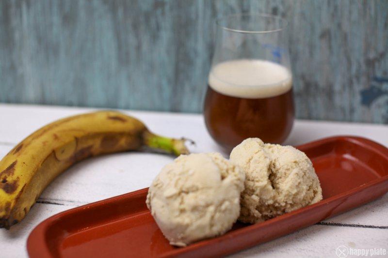 Weisse Schokolade Bananenweizen selbstgemachtes Eis