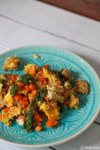 Vegetarisches Groestl mit Salsa