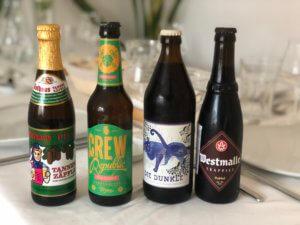 Die Biere fürs Tasting