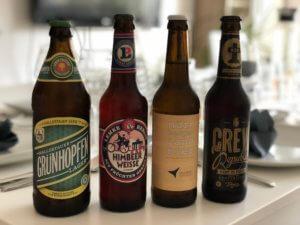 Auswahl der Biere für den Supper Club in München