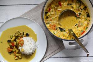 Indisches Veganes Curry mit Kokoksmilch_