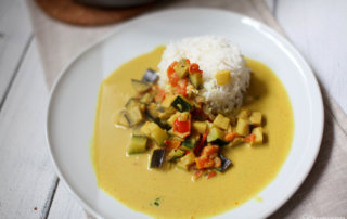 Veganes Curry mit Reis