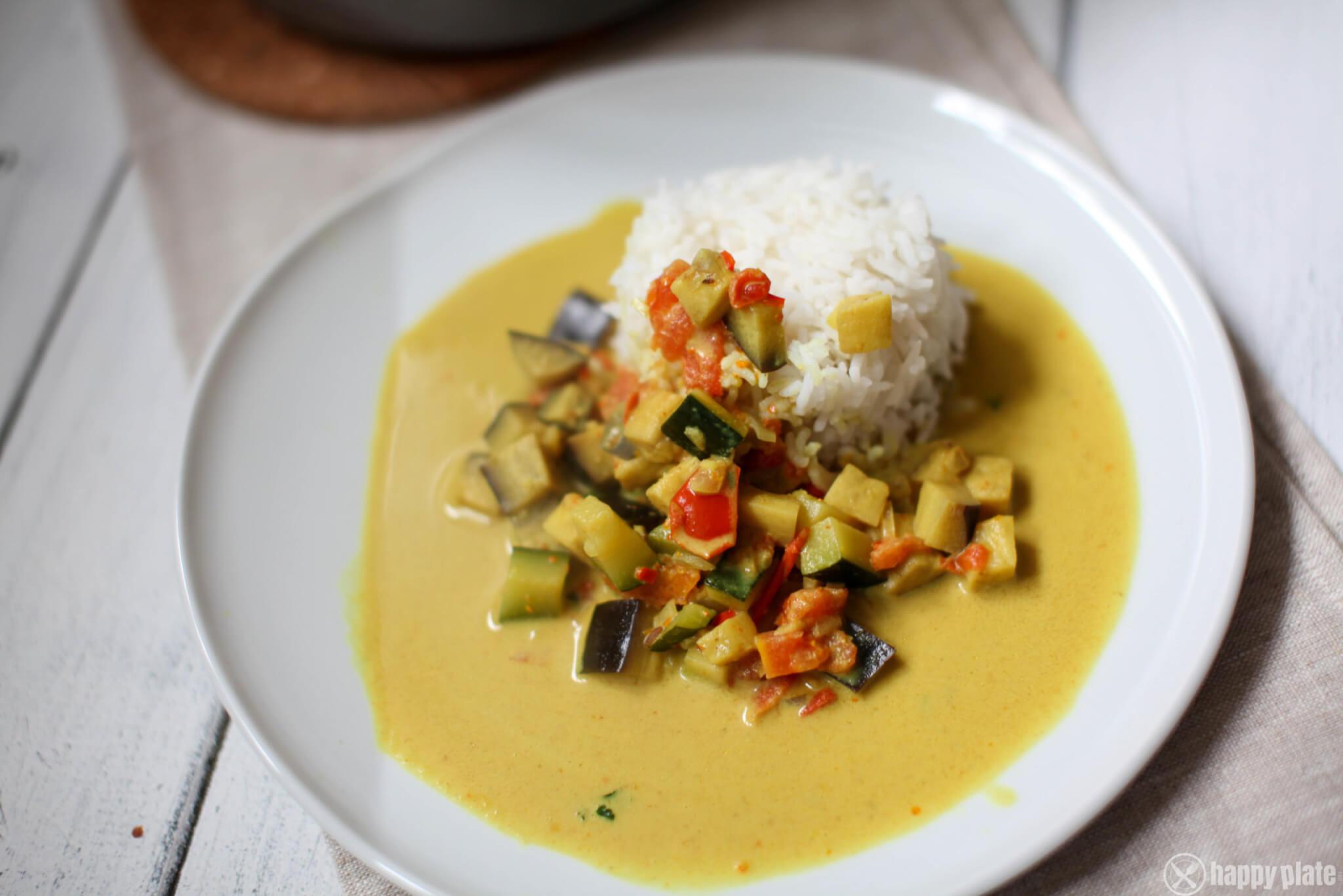 Veganes Curry mit Reis