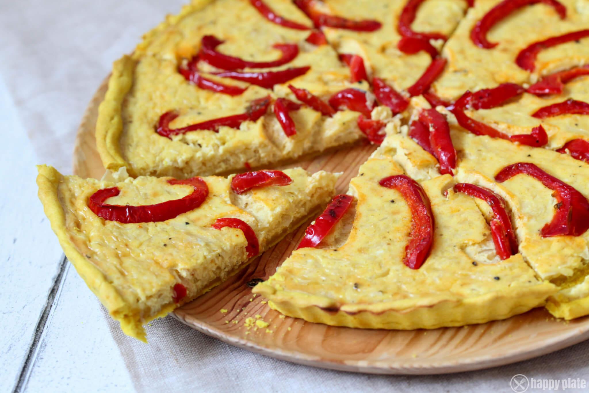 Sauerkraut-Quiche mit geduensteten Paprika