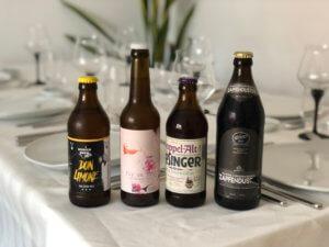 Auswahl der Biere für den Supper Club