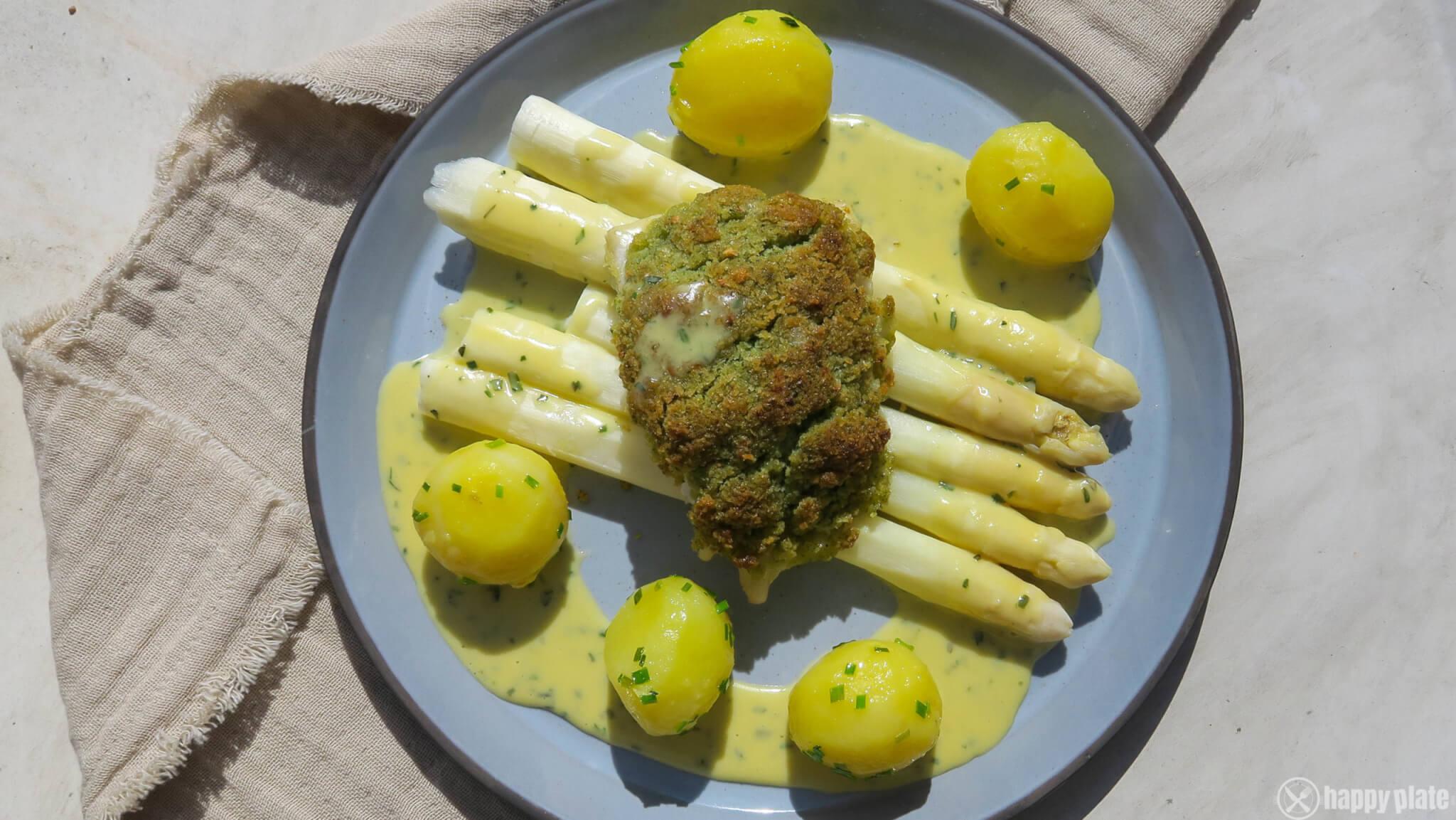 Spargel mit Sauce Bernaise und Zander