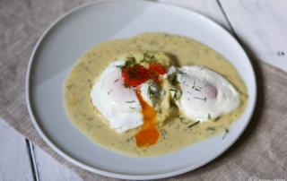 Verlorene Eier mit Senfsauce_