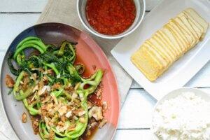 Choi Sam mit Tofu und Reis Vietnamesisches Kochbuch_